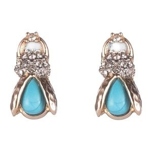 ALEXIS BITTAR • Crystal Encrusted Scarab Earrings